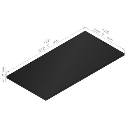plaque de mousse poly thyl ne 65 kg m3 paisseur 40 mm caltech. Black Bedroom Furniture Sets. Home Design Ideas