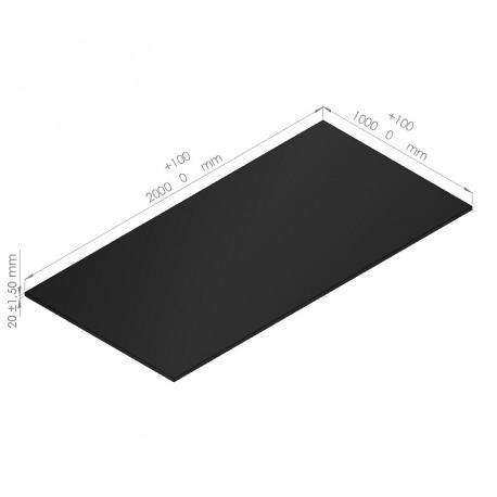 plaques de mousse poly thyl ne 65 kg m3 paisseur 20 mm caltech. Black Bedroom Furniture Sets. Home Design Ideas
