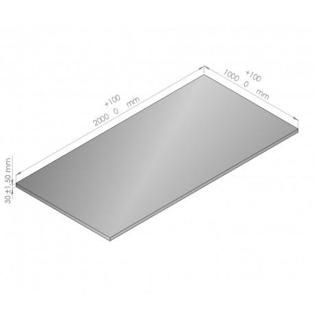 Plaque de mousse de polyéthylène PLASTAZOTE épaisseur 30 mm