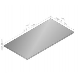 Plaque de mousse de polyéthylène PLASTAZOTE épaisseur 35 mm