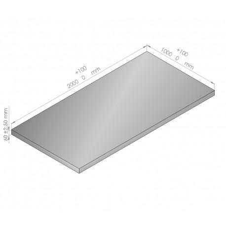Plaque de mousse de polyéthylène PLASTAZOTE épaisseur 60 mm