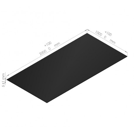 10 plaques de mousse polyéthylène 65 Kg/m3 épaisseur  5 mm
