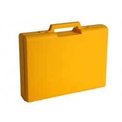 Carton de 10 mallettes en plastique jaune D01