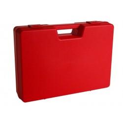 Carton de 4 mallettes en plastique rouge B01