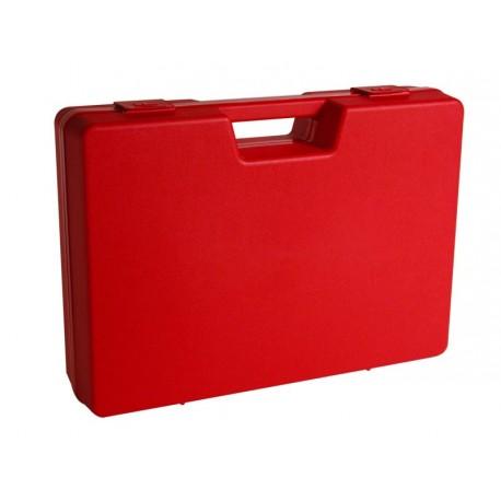 Jeux de 4 mallettes en plastique rouge B01