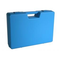 Carton de 4 mallettes en plastique bleue B01