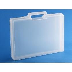 Carton de 10 mallettes en plastique transparent D01