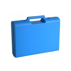 Carton de 10 mallettes en plastique bleue D04