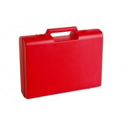 Carton de 10 mallettes en plastique rouge D04