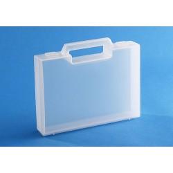 Carton de 20 mallettes en plastique transparent R02