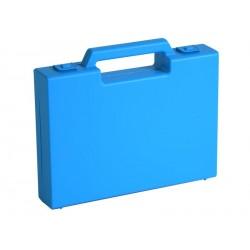 Carton de 20 mallettes en plastique bleu R02