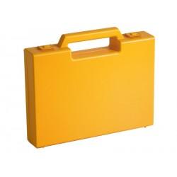 Carton de 20 mallettes en plastique jaune R02