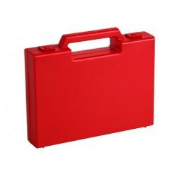 Carton de 20 mallettes en plastique rouge R02