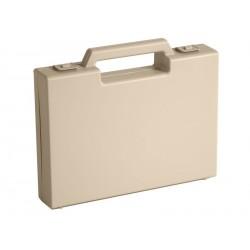Carton de 20 mallettes en plastique beige R02