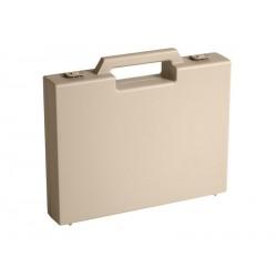 Carton de 20 mallettes plastique beige R03