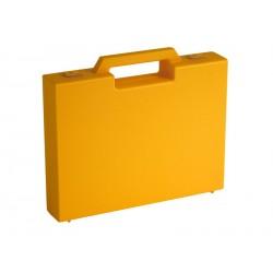 Carton de 20 mallettes plastique jaune R03