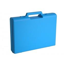 Carton de 5 mallettes en plastique bleu D02